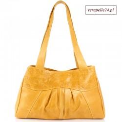 Modna torebka ze skóry naturalnej, kolor pomarańczowy