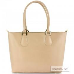 Duża włoska torba na ramię lub do ręki, VEZZE, Borse in Pelle