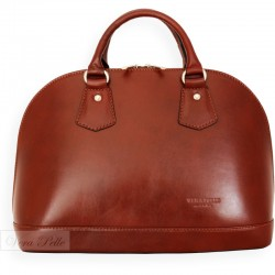 Brązowy kuferek Vera Pelle, Made in Italy