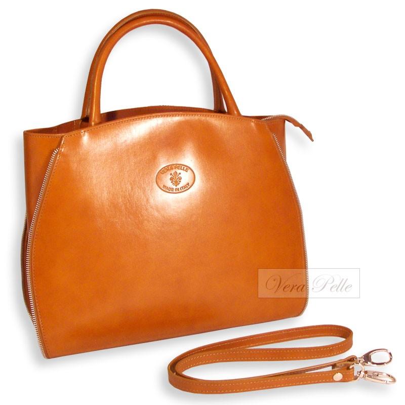 0ad68f9590898 Skórzana torebka shopper bag Vera Pelle