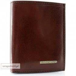 Brązowe skórzane etui na dokumenty i karty płatnicze
