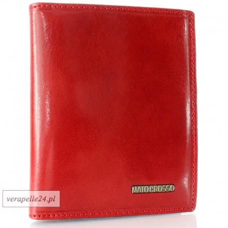 Czerwone skórzane etui na dokumenty, dowód rejestracyjny