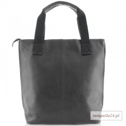 Ponadczasowy duży shopper bag, kolor szary