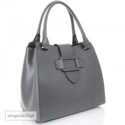 e50b8532b19f9 Włoska damska torebka - kuferek z naturalnej skóry