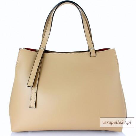 Nowoczesny kuferek damski VEZZE, kolor beżowy