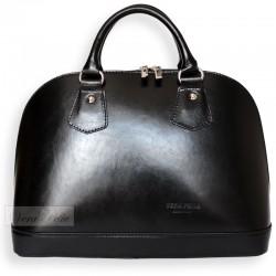 Włoski czarny skórzany kuferek Vera Pelle
