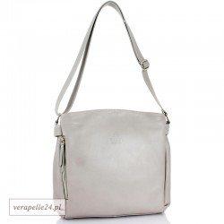 Atrakcyjna włoska torebka damska VEZZE, kolor jasnoszary