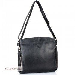 Atrakcyjna włoska torebka damska VEZZE, kolor czarny