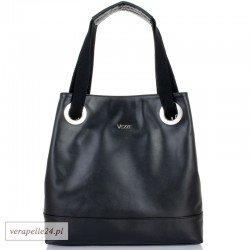 Ponadczasowy włoski fason damskiej torebki w kolorze czarnym