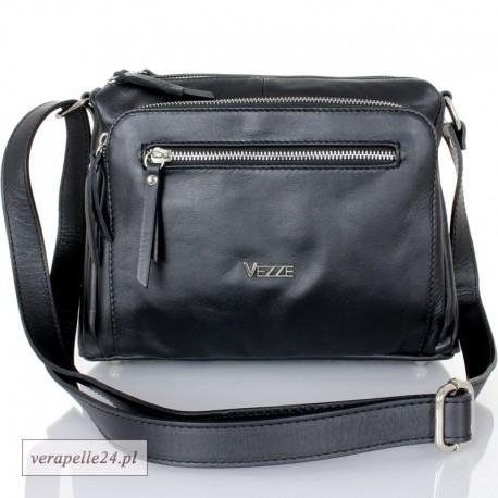 Dwukomorowa włoska torebka średniej wielkości - VEZZE